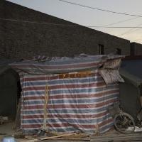 Migrant workers home, Caochangdi Beijing, 150x120 cm, 2009