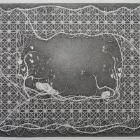 Twee Schedels - 116.5x146.5 cm - pen op papier - 2016