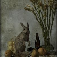 Le lièvre et la tubereuse, 102x72 cm, 2016
