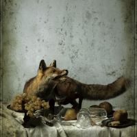 Le renard et les tourtereaux, 102x72 cm, 2016