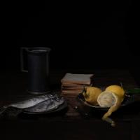 Fish and lemon, 65x82 cm, 2013